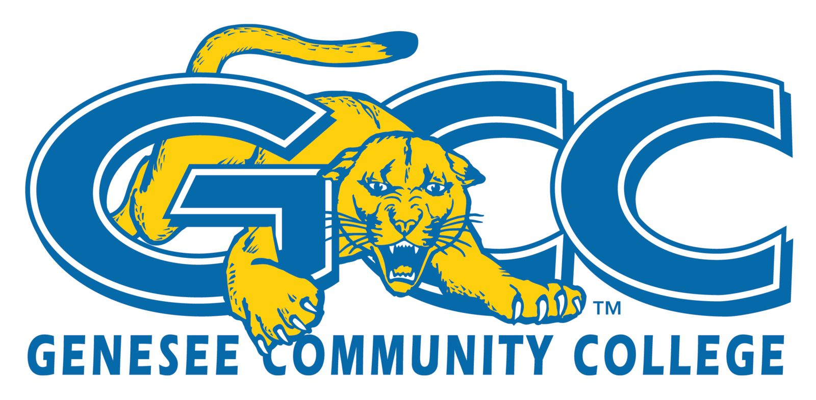 Genesee Community College Athletics Logo - GCC Cougars