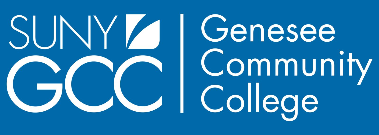Genesee Community College Logo - Blue Banner (GCC)