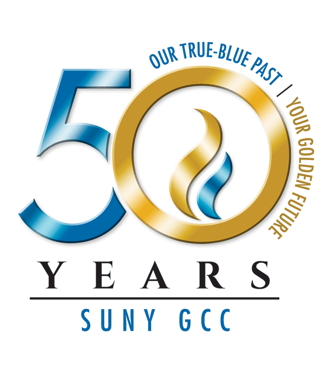 GCC 50th Anniversary Logo - True Blue Variation, Full Color