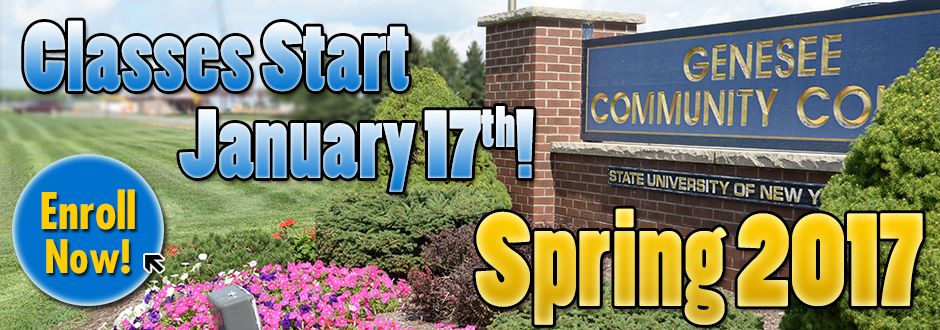 Enroll For Spring 2017 Today!