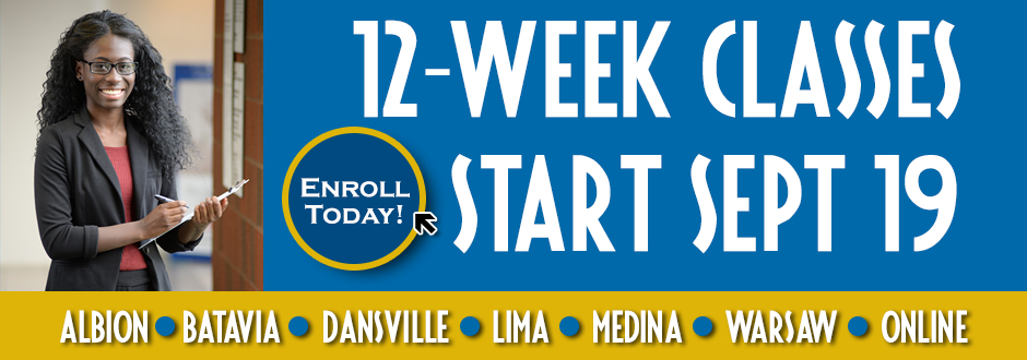 12-Week Classes Fall 2016