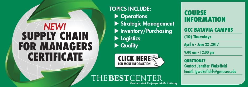 The BEST Center - Supply Chain For Managers Certificate