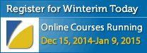 Winterim 2014 Registraton Open