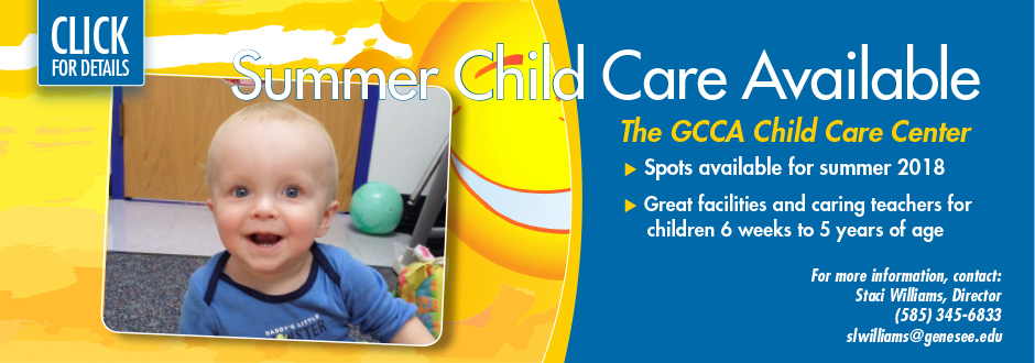 Summer Child Care Available at GCC
