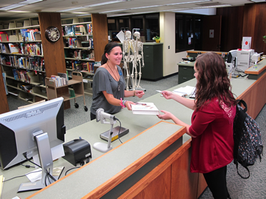 photo of circulation desk