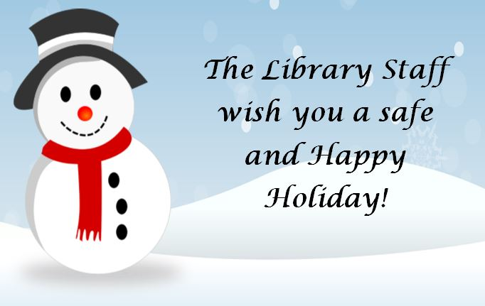 Happy Holidays from Library staff