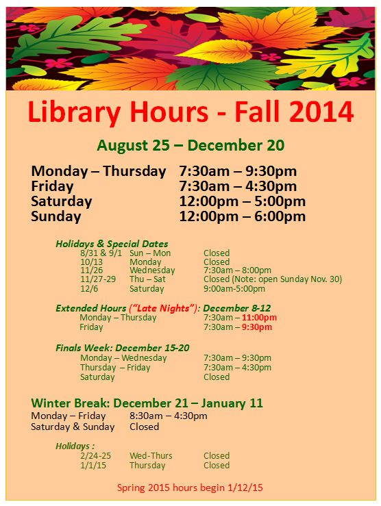 fall hours image