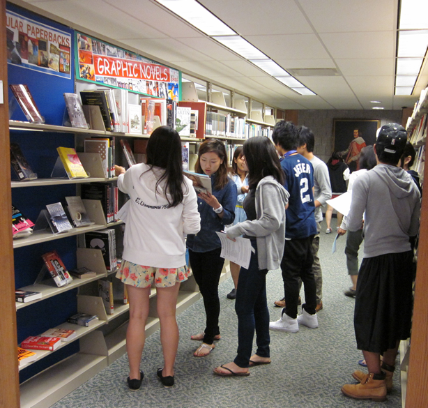 International student library visit