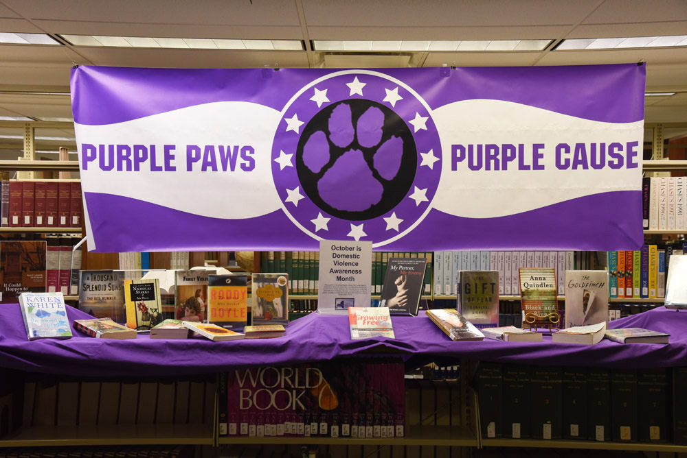 domestic violence awareness display