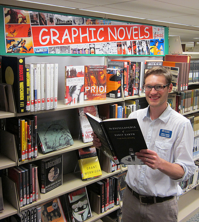 Justin Cronise and graphic novel collection
