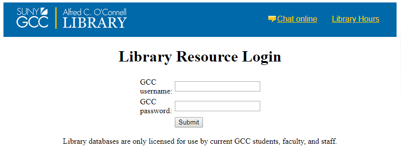 Off-Campus Access - Library
