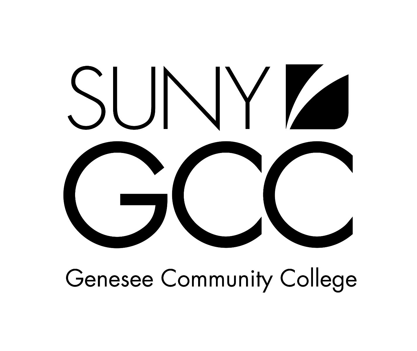 Genesee Community College Logo - Black & White
